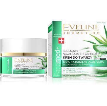 Eveline Cosmetics Facemed+ aloesowy krem do twarzy (na dzień i noc 50 ml)