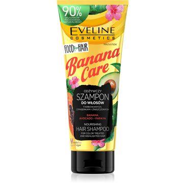 Eveline – Food for Hair Banana Care Szampon do włosów farbowanych - ochrona koloru i odżywienie (250 ml)