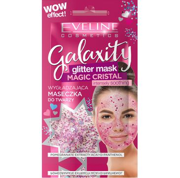 Eveline Galaxity Glitter Mask – wygładzająca maseczka do twarzy Magic Cristal (2x5 ml)