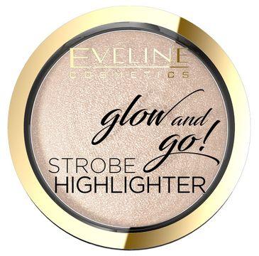 Eveline Glow & Go! – rozświetlacz wypiekany nr 01 Champagne  (8.5g)