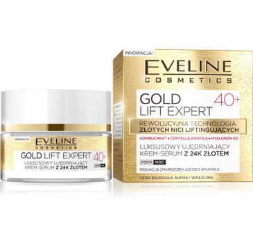 Eveline Gold Lift Expert 40+ – krem-serum do twarzy ujędrniający na dzień i noc (50 ml)