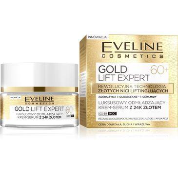 Eveline Gold Lift Expert 60+ – krem-serum do twarzy odmładzające na dzień i noc (50 ml)
