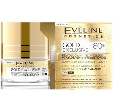 Eveline Gold Lift Expert 80+ krem serum odbudowujący na dzień i noc 50 ml