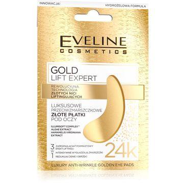 Eveline Gold Lift Expert luksusowe przeciwzmarszczkowe złote płatki pod oczy 2 szt.