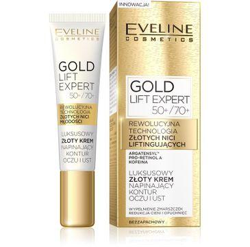 Eveline Gold Lift Expert – luksusowy złoty krem napinający kontur oczu i ust 50+/70+ (15 ml)