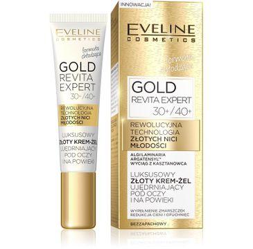 Eveline Gold Revita Expert – luksusowy krem-żel ujędrniający pod oczy i na powieki 30+/40+ (15 ml)