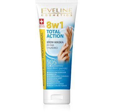 Eveline Hand & Nail Therapy Total Action 8w1 – krem-maska do rąk i paznokci odżywczy (75 ml)