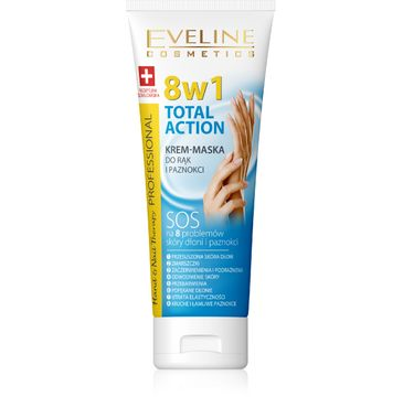 Eveline Hand & Nail Therapy Total Action 8w1 krem-maska do rąk i paznokci odżywczy 75 ml