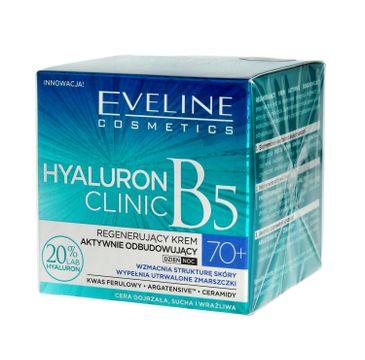Eveline Hyaluron Clinic 70+ – regenerujący krem aktywnie odbudowujący na dzień i noc (50 ml)