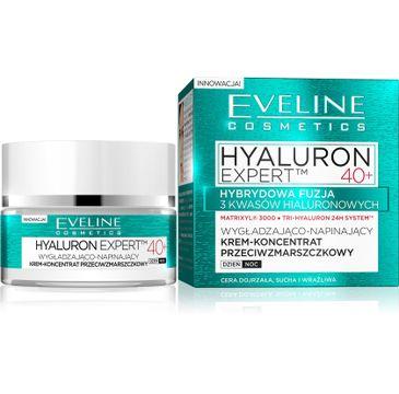 Eveline Hyaluron Expert 40+ – wygładzająco-napinający krem-koncentrat na dzień i noc (50 ml)