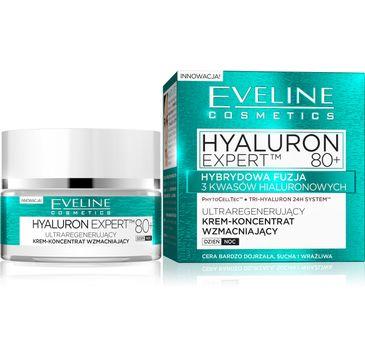 Eveline Hyaluron Expert 80+ – ultraregenerujący krem koncentrat na dzień i noc 50 ml