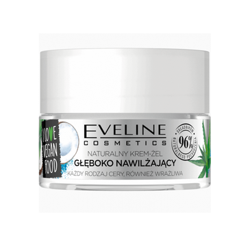 Eveline I Love Vegan Food - naturalny krem/żel głęboko oczyszczający (50 ml)