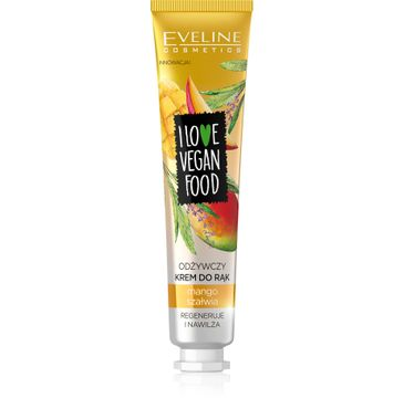 Eveline I Love Vegan Food (krem odżywczy do rąk Mango i Szałwia 50 ml)