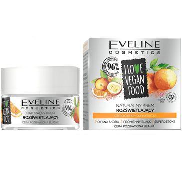 Eveline I Love Vegan Food - krem rozświetlający camu camu, pomarańcza (50 ml)