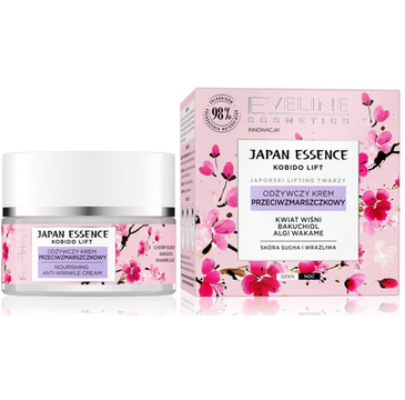 Eveline Japan Essence Odżywczy Krem przeciwzmarszczkowy na dzień i noc - skóra sucha i wrażliwa (50 ml)