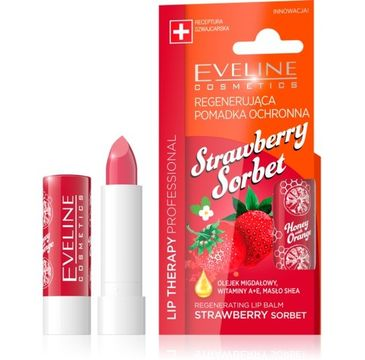 Eveline Lip Therapy Professional (pomadka regenerująca do ust Strawberry Sorbet 1 szt.)