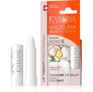 Eveline Lip Therapy (wazelina do ust w sztyfcie Słodki Kokos nawilżająca 3,8 g)