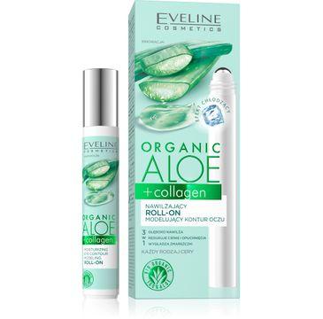 Eveline Organic Aloe Nawilżający roll-on modelujący kontur oczu 3w1 -cera każdego rodzaju (15 ml)