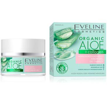 Eveline Organic Aloe+collagen żel nawilżająco-łagodzący do twarzy (50 ml)