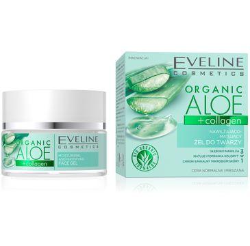 Eveline Organic Aloe+collagen żel nawilżająco-matujący do twarzy (50 ml)