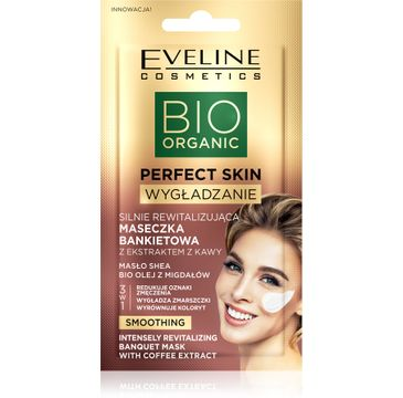 Eveline Perfect Skin Silnie rewitalizująca maseczka bankietowa z ekstraktem z kawy (8 ml)
