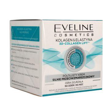 Eveline Kolagen & Elastyna – półtłusty krem silnie przeciwzmarszczkowy 3D Collagen Lift (50 ml)