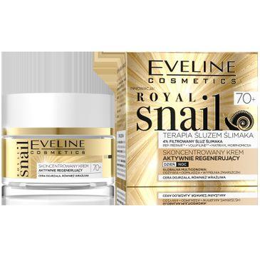 Eveline Royal Snail 70+ Skoncentrowany krem aktywnie regenerujący na dzień i noc 50 ml