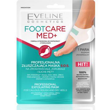 Eveline Foot Care Med+ Profesjonalna Złuszczająca Maska płachtowa S.O.S na pięty (1 para)