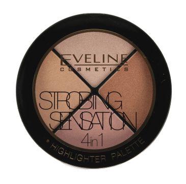 Eveline Strobing Sensation 4in1 – zestaw rozświetlaczy do twarzy (12 g)