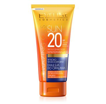 Eveline Sun Amazing Oils SPF20 – wysoko wodoodporna emulsja do opalania (150 ml)