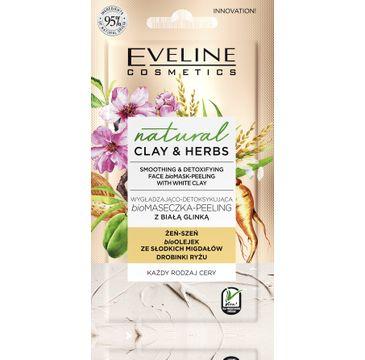 Eveline Clay&Herbs Maseczka-peeling Biała glinka (8 ml)