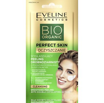 Eveline Bio Organic Perfect Skin Wygładzający peeling drobnoziarnisty do twarzy (8 ml)