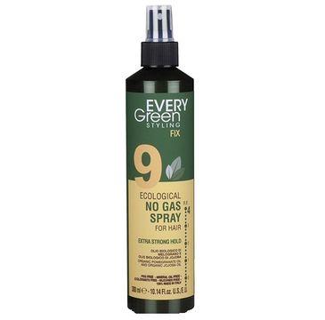 Every Green 9 Eco Hairspray No Gas Strong Hold ekologiczny lakier do włosów mocno utrwalający fryzurę (300 ml)