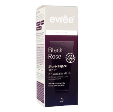Evree Black Rose serum złuszczające z kwasami AHA 75 ml