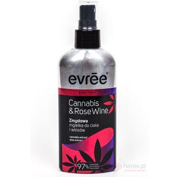 Evree Cannabis & Rose Wine zmysłowa mgiełka do ciała i włosów 100 ml