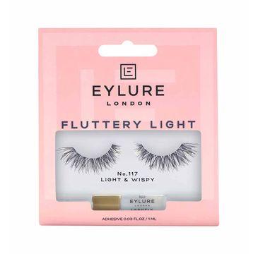 Eylure Fluttery Light Lashes sztuczne rzęsy z klejem efekt wypełnienia No. 117 (1 para(