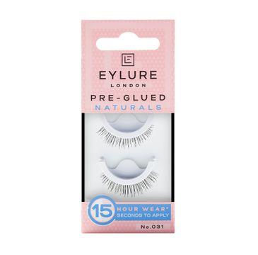 Eylure Pre-Glued False Lashes sztuczne rzęsy samoprzylepne naturalny efekt No. 031 Naturals (1 para)
