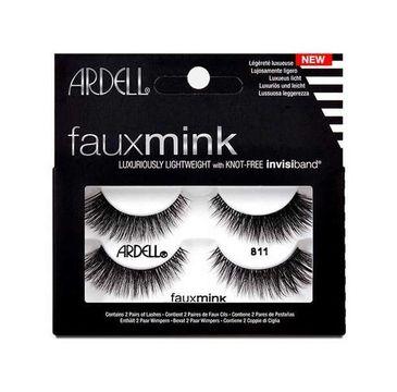 Ardell – Faux Mink 2 pary sztucznych rzęs 811 Black (1 op.)
