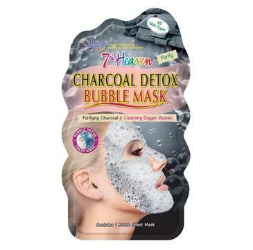 7th Heaven – Charcoal Detox Bubble Mask detoksykująca węglowa maseczka bąbelkowa w płachcie do każdego typu skóry (1 szt.)