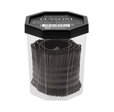 Lussoni – Wsuwki do włosów czarne karbowane 6cm (250 szt)