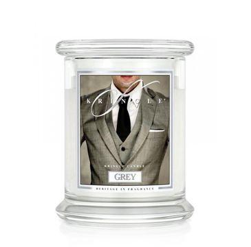 Kringle Candle – świeca zapachowa z dwoma knotami Grey (411 g)