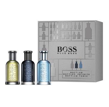Hugo Boss Bottled Collection – zestaw Bottled woda toaletowa spray (30 ml) + Boss Infinite woda perfumowana spray (30 ml) + Bottled Tonic woda toaletowa spray (30 ml)