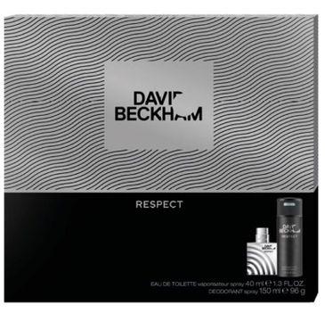 David Beckham – zestaw prezentowy Respect dezodorant (150 ml) + woda toaletowa (40 ml))