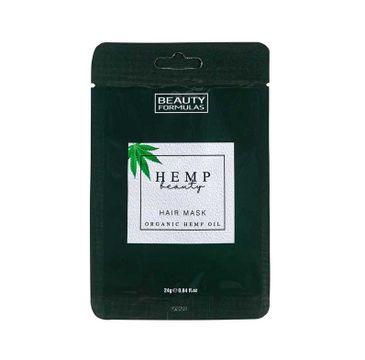 Beauty Formulas – Hemp Beauty Hair Mask maska do włosów z organicznym olejem konopnym (24 g)