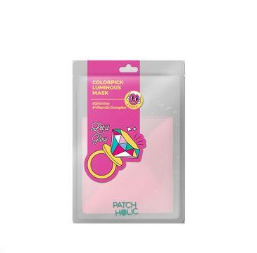Patch Holic – Różowa rozświetlająca maska w płachcie Colorpick Luminous Mask (20 ml)