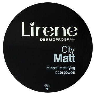 Lirene City Matt Mineral Mattifying Loose Powder – mineralny matujący puder sypki 01 Transparentny (7 g)