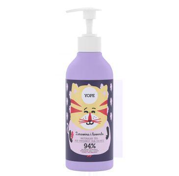 Yope – naturalny żel pod prysznic dla dzieci Żurawina i Lawenda (400 ml)