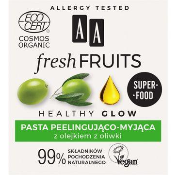 AA – Fresh Fruits pasta peelingująco - myjąca z olejkiem z oliwki (50 ml)