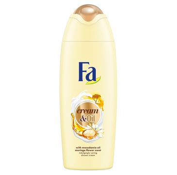 Fa Cream & Oil Shower Cream kremowy żel pod prysznic Macadamia Oil Moringa Flower Scent 400ml
