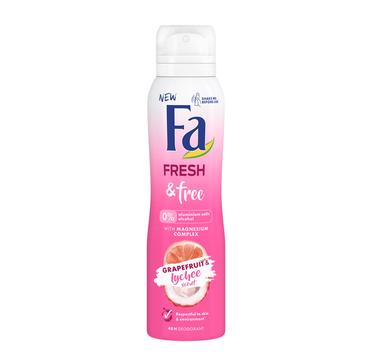 Fa Fresh & Free 48h dezodorant spray Grapefruit & Lychee (150 ml)